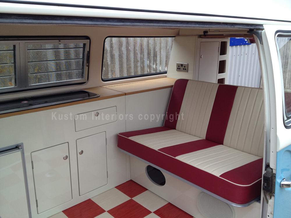 Kustom T2 Bay Paul 8 Vw Camper Interiors Camper Conversions Kustom Interiors Cornwall