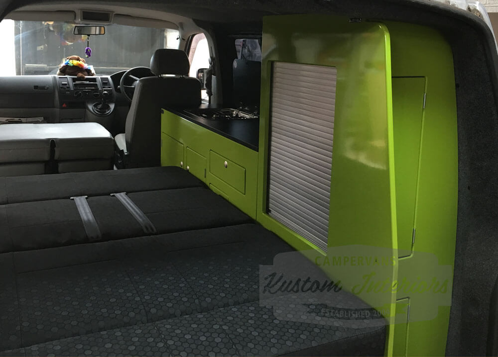 Latest VW T5 Interior project Wardrobe Unit