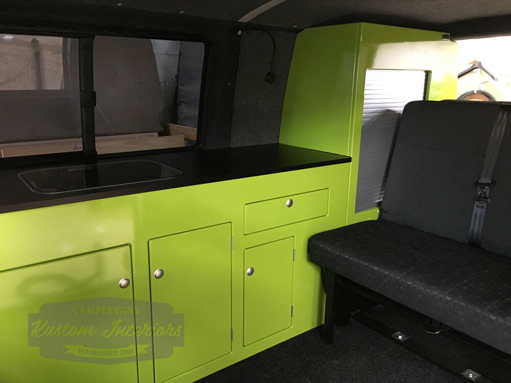 Latest VW T5 Interior project Main kitchen