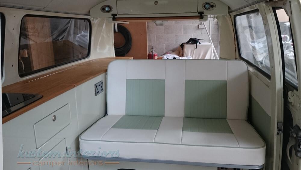 Sam & Pete's 1972 Dormobile gets a new interior