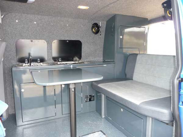 Kustom showvan4 vw camper interiors camper conversions for Campervan interior designs