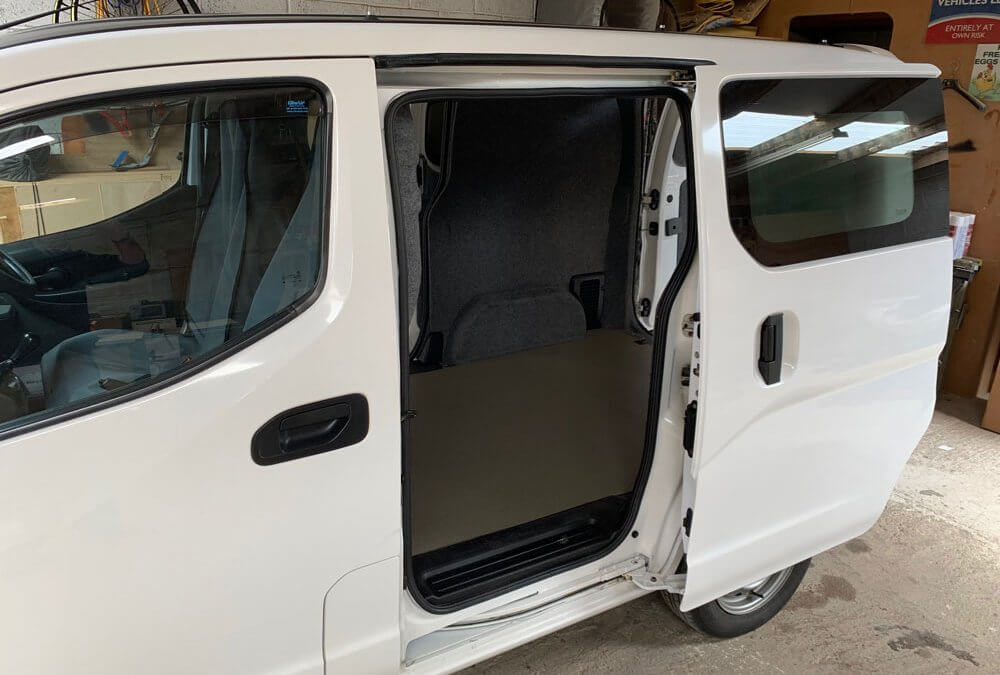 Nissan Nv200 Carpet Lining project from Kustom Interiors